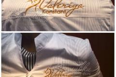 машинная вышивка на халате