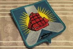 нашивка с вышивкой герб совгаванского района