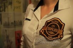 нашивка с вышивкой на одежду ресторан тропикана tropicana