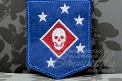 нашивка с вышивкой marine raiders